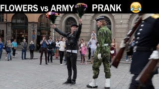 Flowers VS ARMY PRANK -Julien Magic
