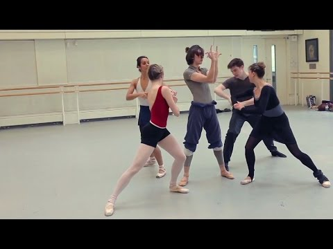 Aakash Odedra rehearses with Royal Ballet dancers for Deloitte Ignite