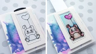 Magic Slider Card (Color Slider) - Simon Says Stamp