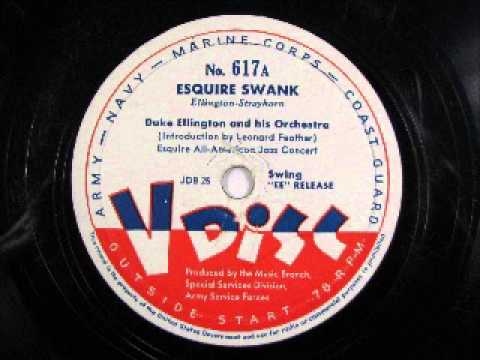 ESQUIRE SWANK by Duke Ellington intro by Leonard Feather-Esquire Jazz Band Winners