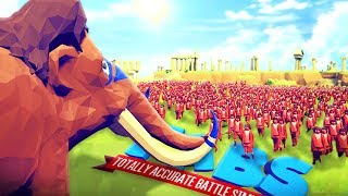 1 MAMMUT vs 10.000 HOBBITS! | Totally Accurate Battle Simulator - (Co-op)