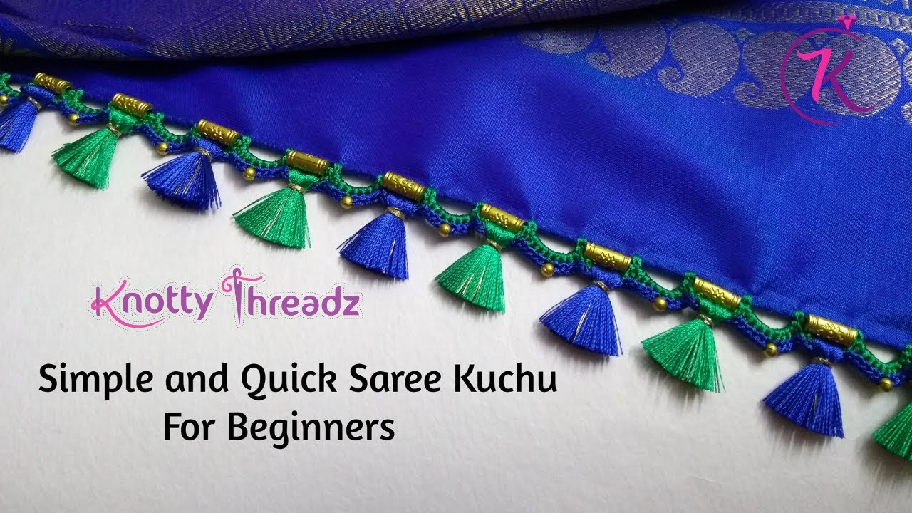 Download Easy Crochet Kuchu Design for beginners Using Beads | Fast and Simple Work | www.knottythreadz.net