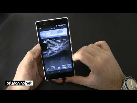 Sony Xperia Z videoreview da Telefonino.net