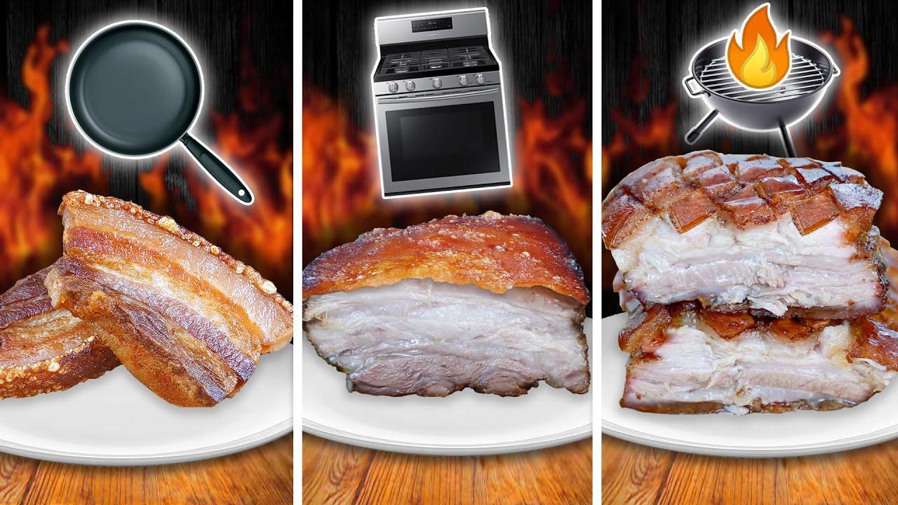 Sartén vs. Horno vs. BBQ Panceta de Cerdo 🐷 (Pork Belly)