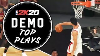 15 BEST Plays Of The NBA 2K20 DEMO!