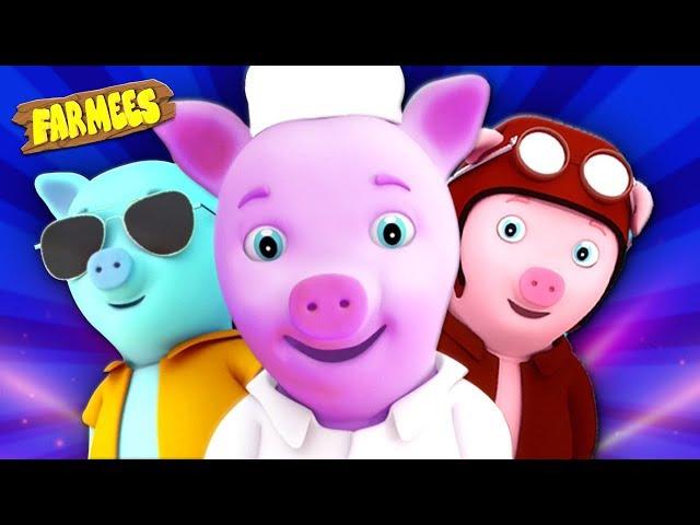 This Little Piggy | Kindergarten Nursery Rhymes For Kids | Cartoon Songs by Farmees