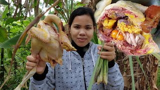 Yummy Cooking Chicken With Fresh Vegetable Recipe -Cooking Skill -Cooking Show -ASMR Eat Chicken