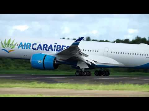 AIR CARAIBES  Airbus A350-900 Landing - Martinique