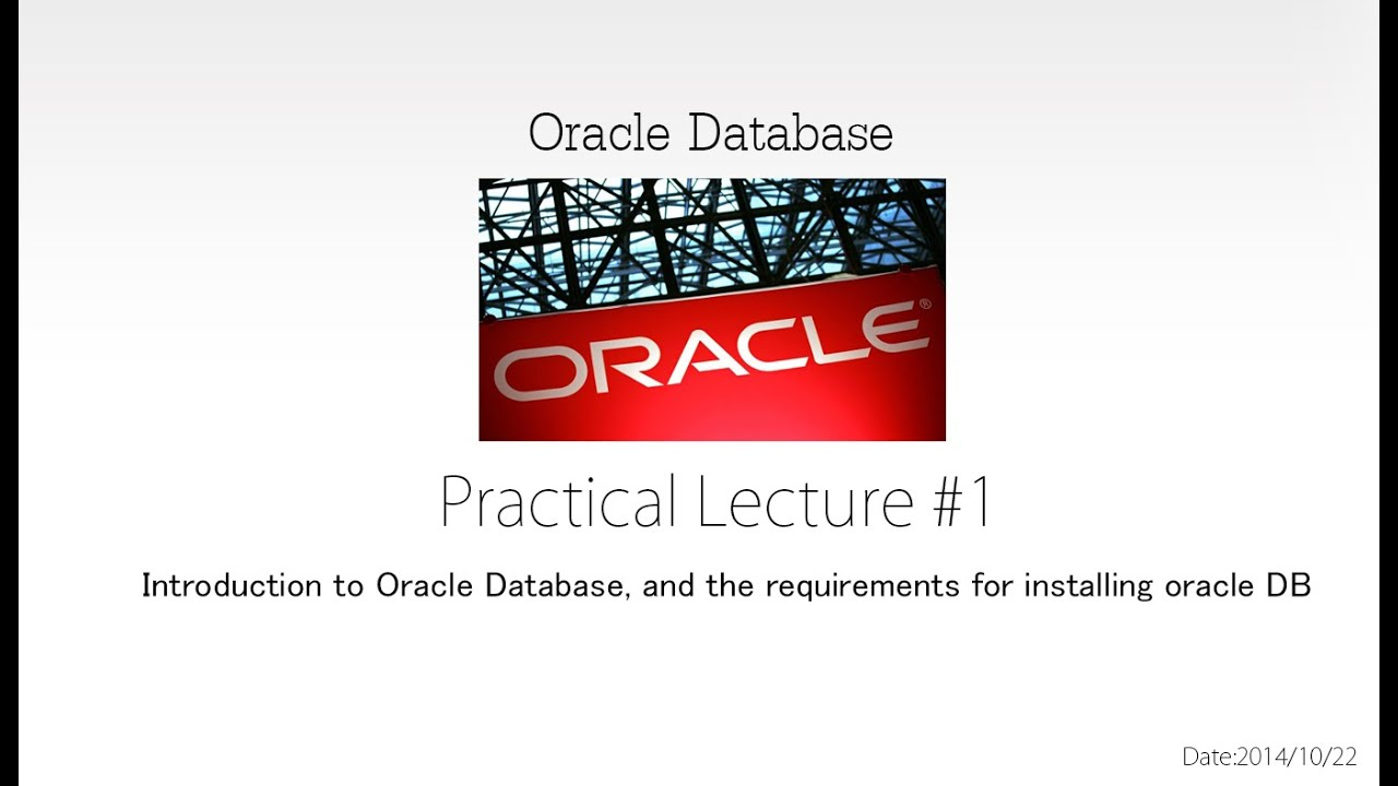 an introduction to the history of the oracle database What is database what is said to be the first dbms in history with time database technologies evolved a lot while oracle, and microsoft sql server database.