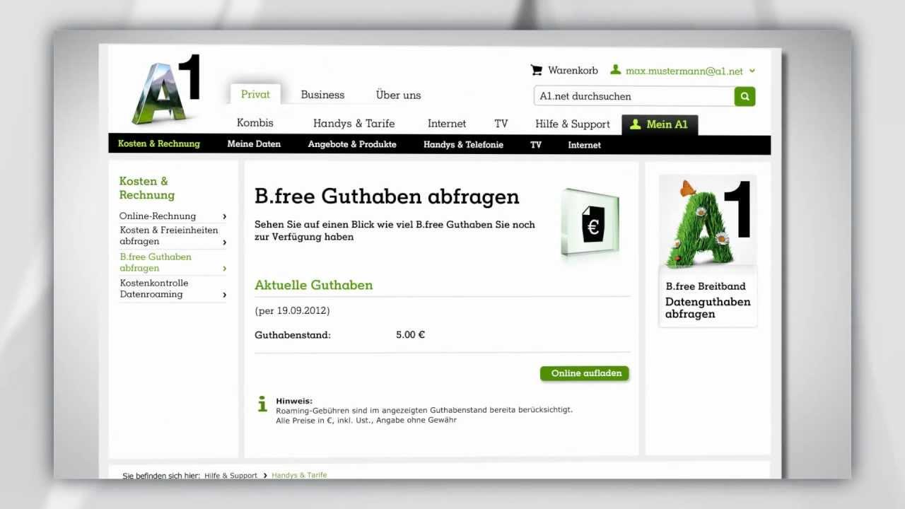 Bfree Wertkarte Guthaben Abfragen