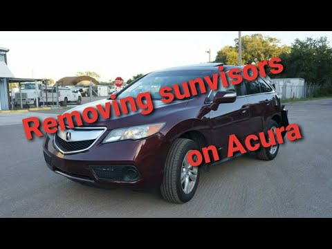 Acura rdx sunvisor removal how to diy replace replacement honda