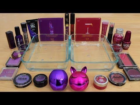 Purple vs Rose  - Mixing Makeup Eyeshadow Into Slime Special Series 209 Satisfying Slime Video