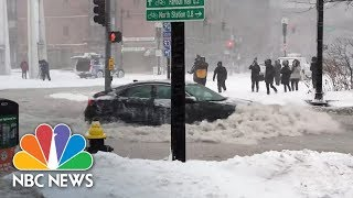 Boston Streets Awash During Its Worst Coastal Flooding In 40 Years | NBC News