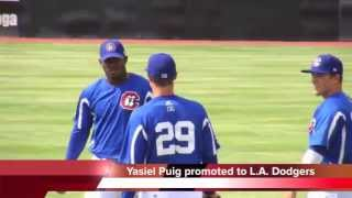 Yasiel Puig promoted to Los Angeles Dodgers