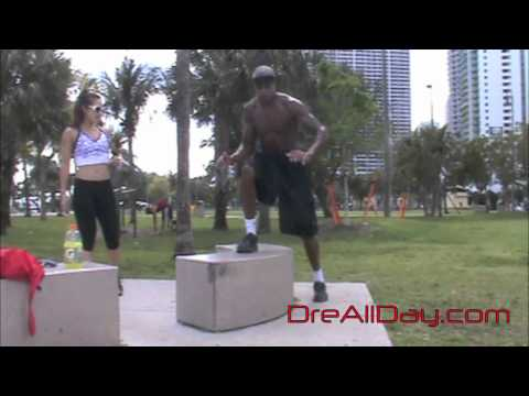 Dre Baldwin: Knee Injury Prevention Exercise - Elevated Lateral Step Pt. 2   NBA Fit Strength Drills