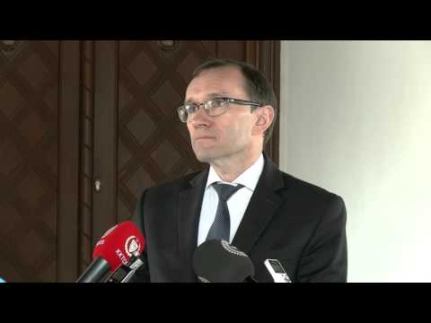 SASG Eide speaks to the media after meeting Turkish Cypriot