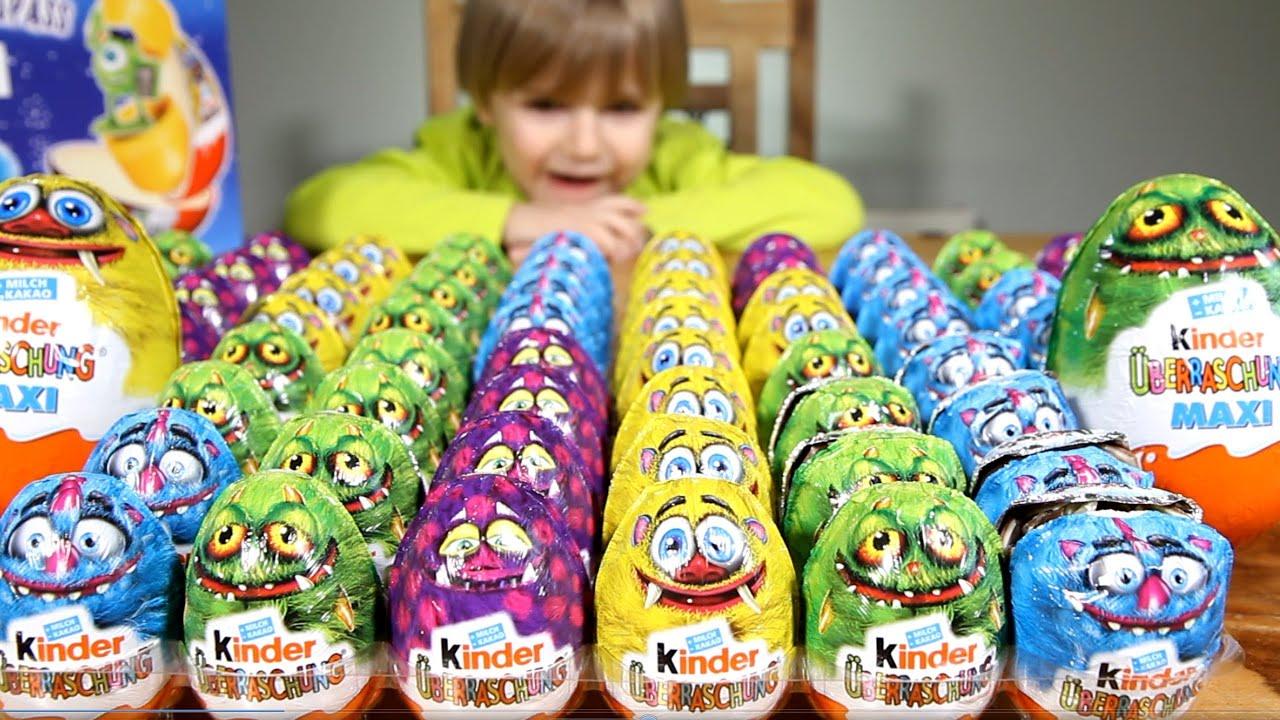 Unboxing NEW Kinder Surprise Eggs 2015 Kinder Chocolate Eggs Kids