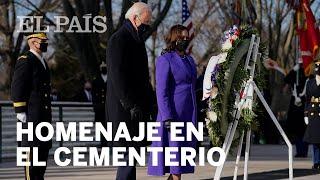 Joe BIDEN y Kamala HARRIS visitan el CEMENTERIO DE ARLINGTON