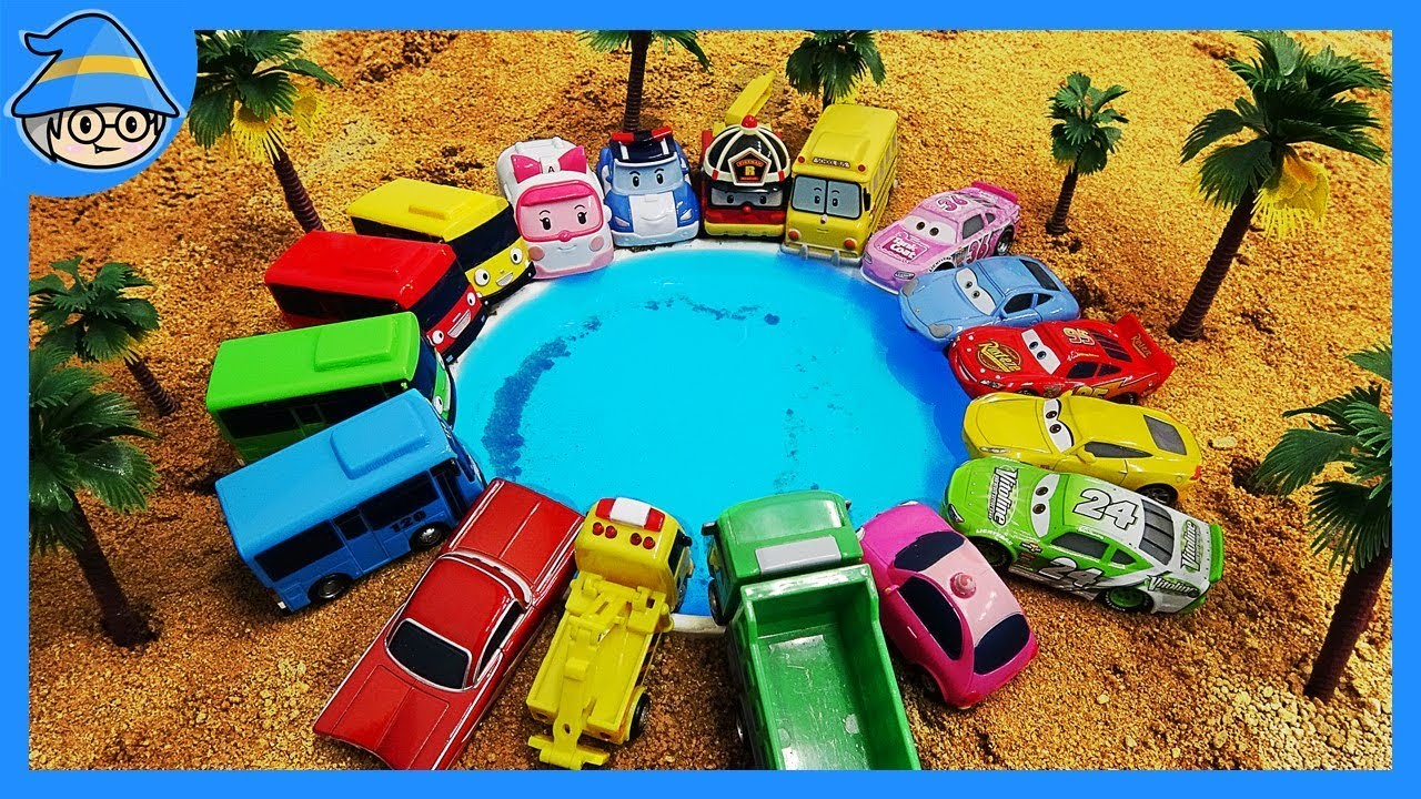 Download Robocar Poli, the wheels are falling in the desert sand! Rescue the POLI.
