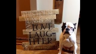 How To {make A Pallet Sign}
