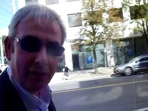 CEO Robert MacLeod from Invest New Brunswick is confronted by the Blogger