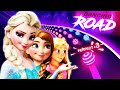 Let It Go, Into The Unknown - Frozen and more DISNEY songs played on DANCING ROAD