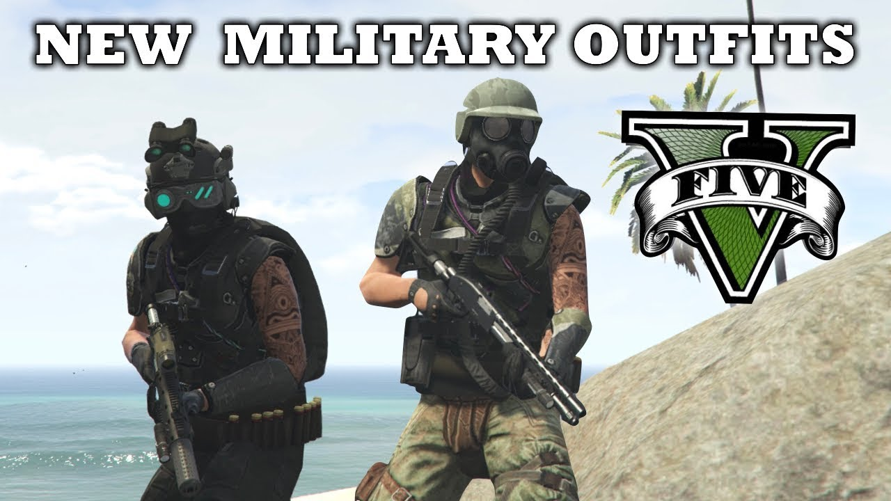 GTA V - New Top Apocalyptic Military Outfits! Arena War Update Custom Outfits