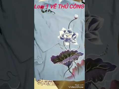 Áo Lam Đi Chùa - Cổ Tàu Bèo Lai Cao Cấp - Vẽ tay thủ công