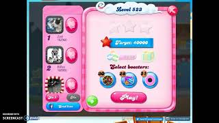 Candy Crush Level 523 Audio Talkthrough, 3 Stars 0 Boosters
