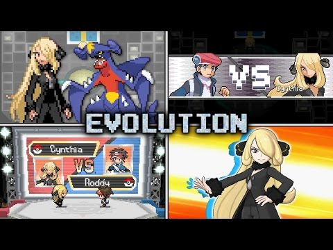 Evolution of Cynthia Battles in Pokémon games (2006 - 2016)