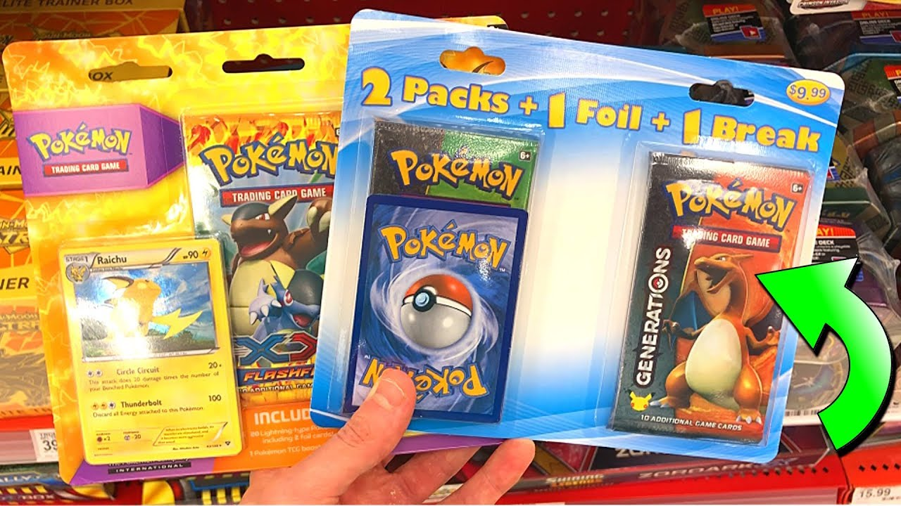 out of print packs at target opening rare pokemon cards from the