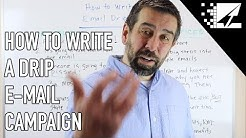 How to Write an Email Drip Campaign in 2019 - Email Marketing Tutorial