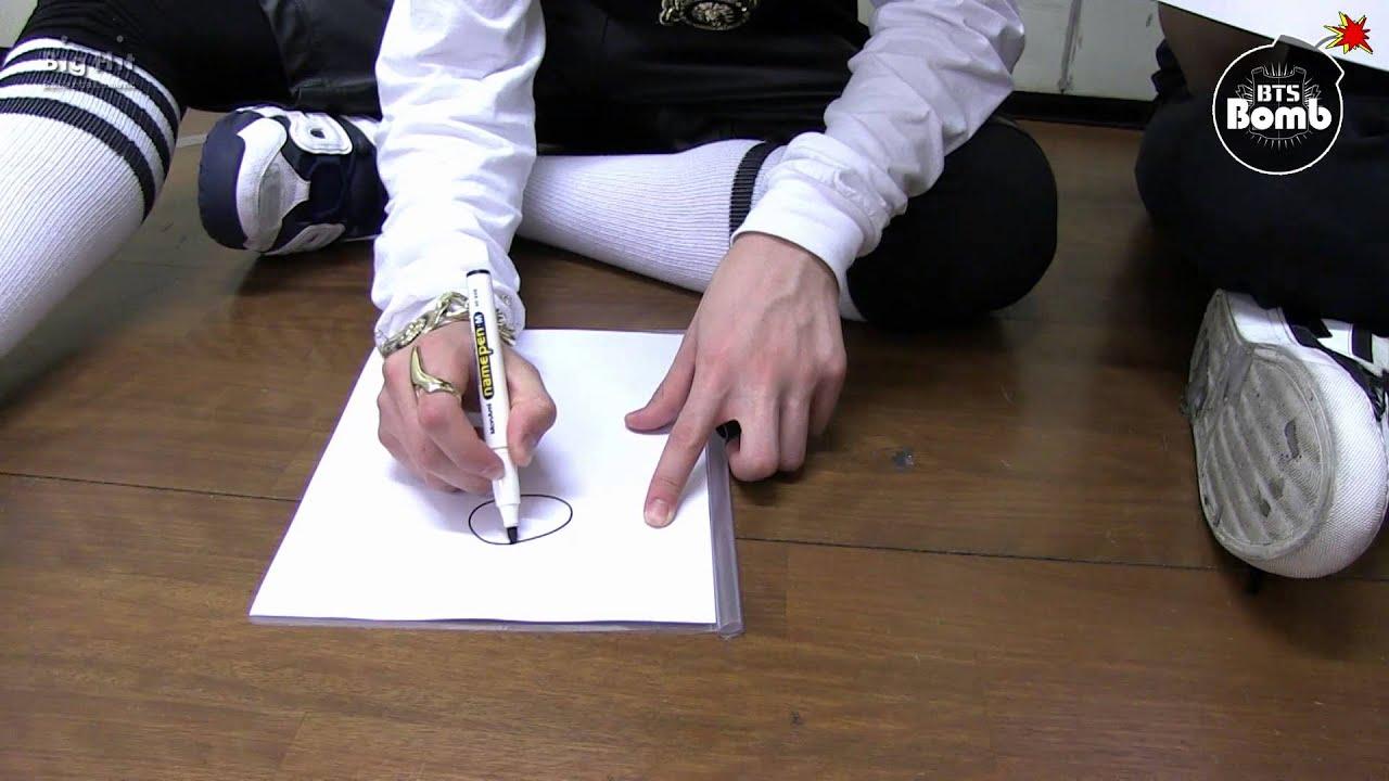 Cute Bts Drawings Wallpaper Bangtan Bomb Jung Kook Is Drawing Quot 좋아요 Quot Youtube