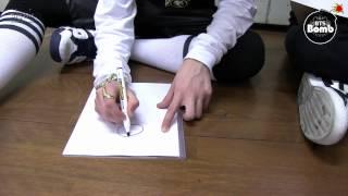 "[BANGTAN BOMB] Jung kook is drawing ""좋아요"""