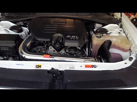 How To Install K&N C.A.I. 2013 Dodge Challenger SXT 3.6L V6