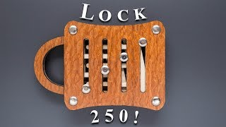 This lock requires 250 steps to open it! - Schloss 250