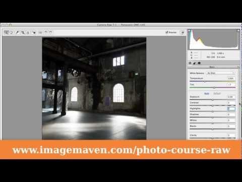 Photoshop Elements 11 - Camera Raw interface