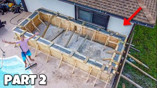 BUILDING MASSIVE 4000G POND with CONCRETE!! (part 2)