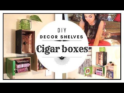 DIY - Decor Shelves   Cigar Boxes