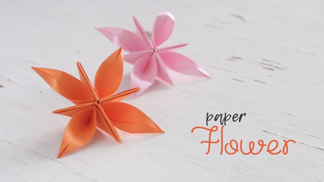 Diy paper flower 4 petal youtube diy paper flower 4 petal mightylinksfo