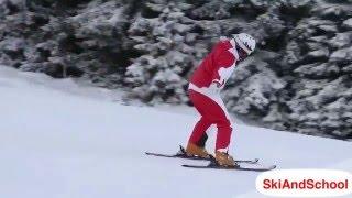 ★Карвинг Лыжи★ Урок 6 1 Повороты в плуге на горных лыжах