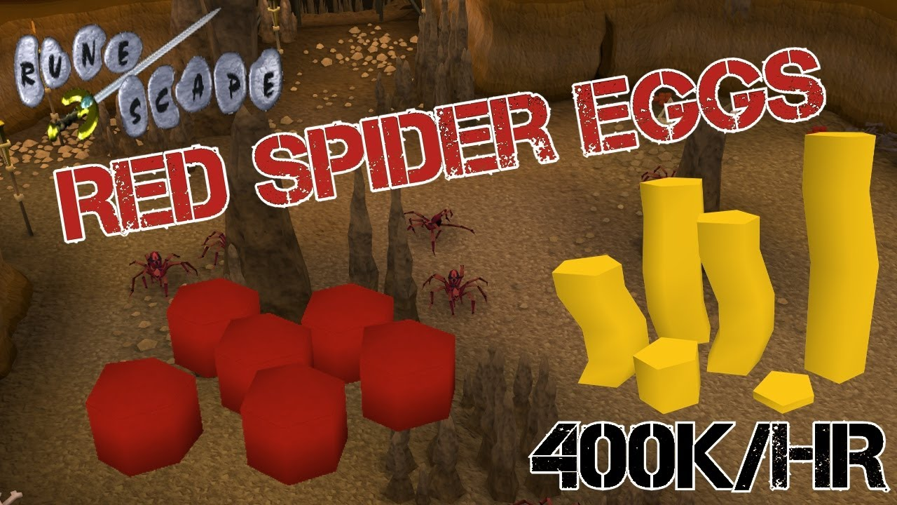 Runescape 2007 - 400k GP/Hour Money Making Guide - Red Spider Eggs  Collecting Guide