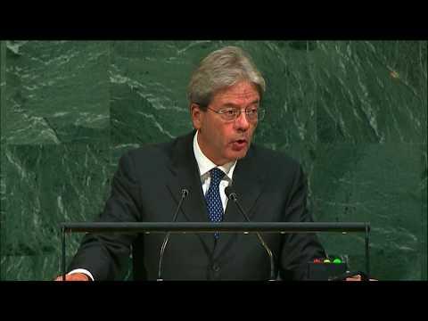 L'intervento del Presidente Gentiloni in Assemblea Generale Onu