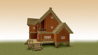 MINECRAFT: How to build a big wooden house #7