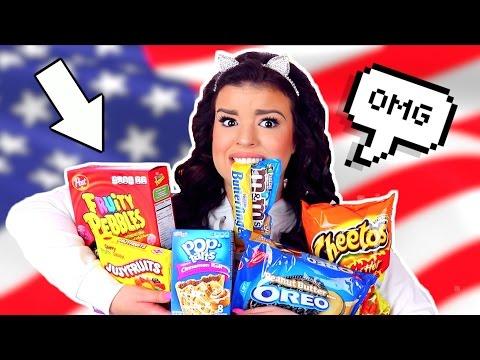 Australian Tries American Candy! Australian Girl Tries American Food!