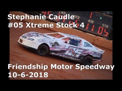 Stephanie Caudle #05 Xtreme Stock 4 Friendship Motor Speedway 10-6-2018
