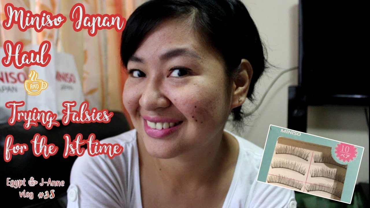 f3c650a0c53 Egypt + J Anne Vlog #038 Miniso Haul + First Try mag FALSE LASHES ...