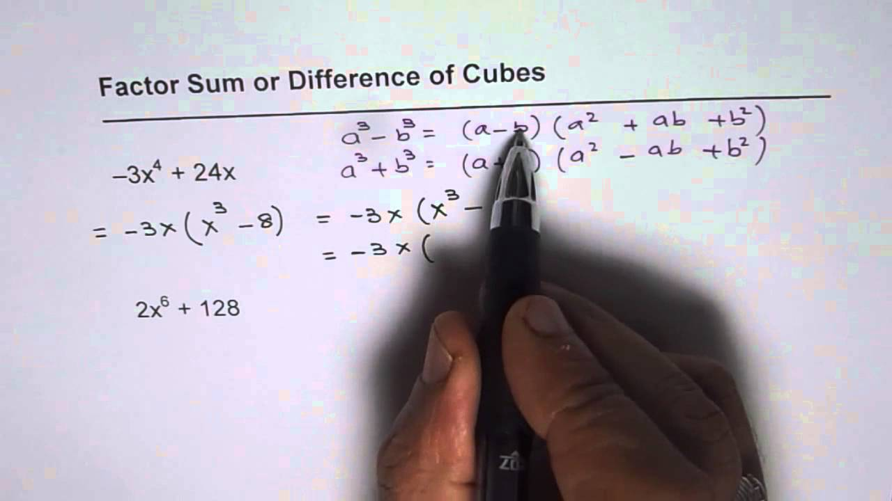 Factor Sum And Difference Of Cubes 2