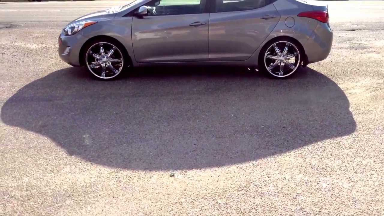 2013 Hyundai Elantra With U2 35 Wrapped In 225 30 20 Lexani Lx 7 Youtube