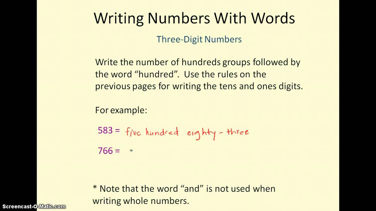 in an essay are numbers written out Using numbers when using numbers in essays and reports you should avoid beginning a sentence with a number that is not written out.